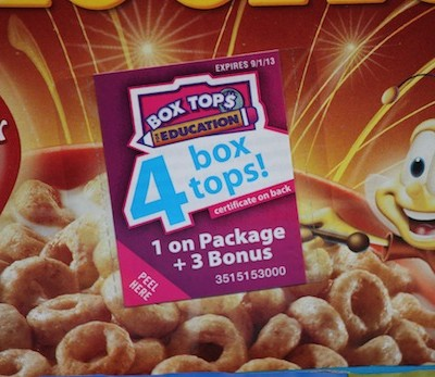 Earn Cash for Your School with Box Tops!