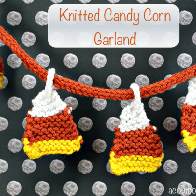Knitted Candy Corn Garland