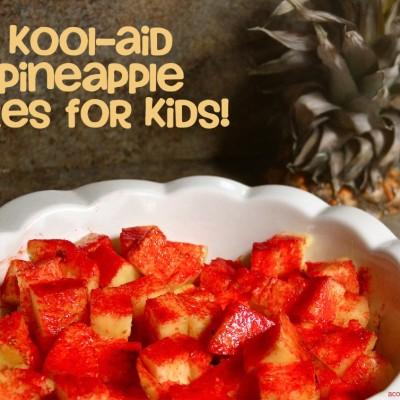Kool-Aid Pineapple Bites for Kids