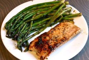 Lemon Peppered Salmon with Asparagus