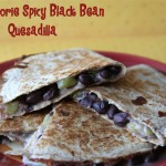 Low Calorie Black Bean Quesadilla