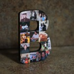 Memory Photo Collage with Letter B