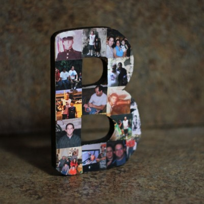 Memorial Photo Collage Craft – Letter B