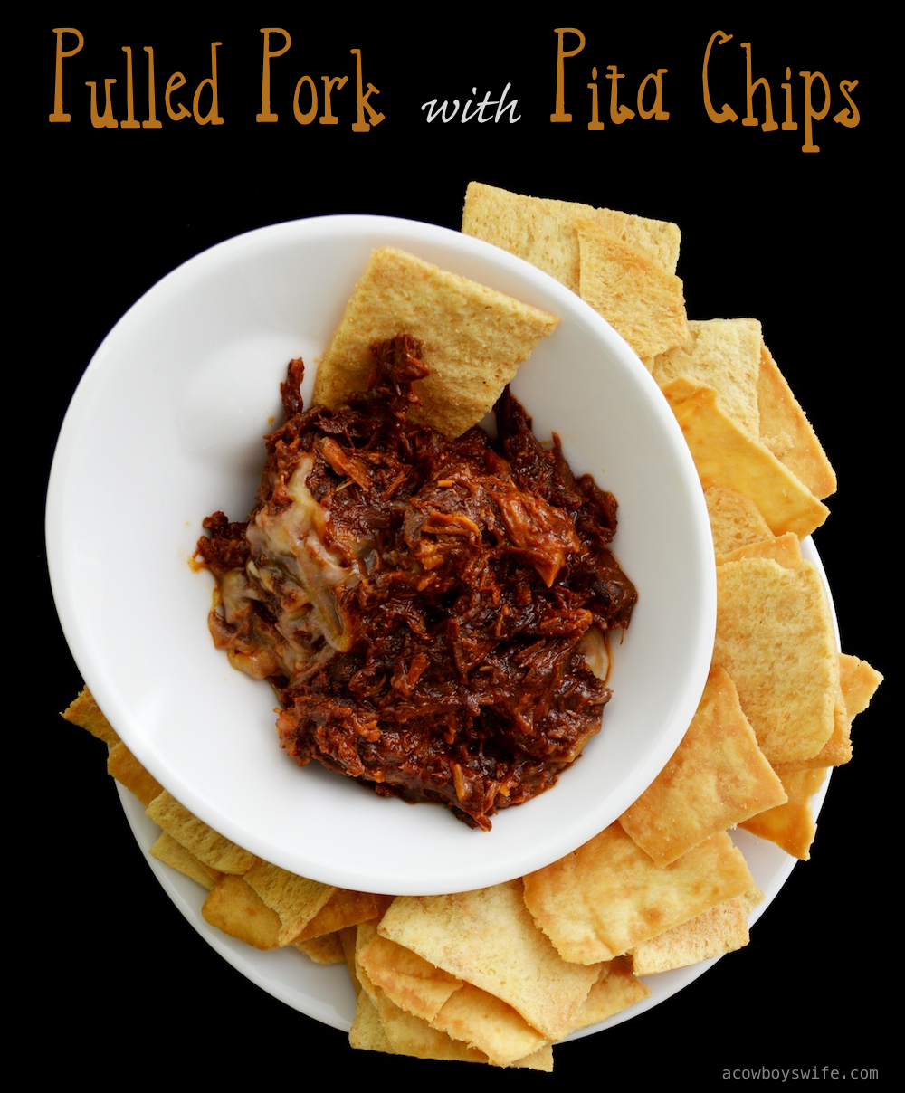 Pulled Pork with Pita Chips