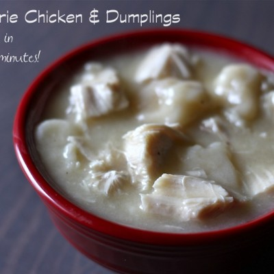 Rotisserie Chicken and Dumplings and 30 Minutes!