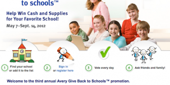 avery gives back to schools