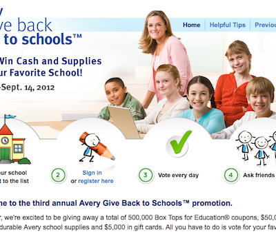 Avery Gives Back to Schools, Including Our Very Own Highland ISD! Box Tops