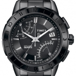Timex® 'Intelligent Quartz' Ceramic Topring Flyback Chronograph Watch