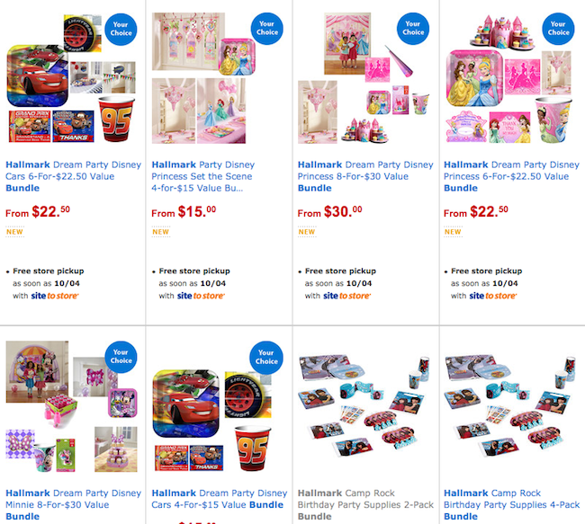 hallmark birthday bundles at walmart