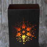 Snowflake Luminary Cricut Tutorial