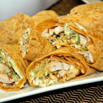 Sweet spicy chicken bacon wrap