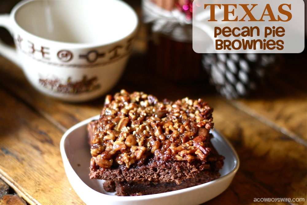 Texas Pecan Pie Brownies