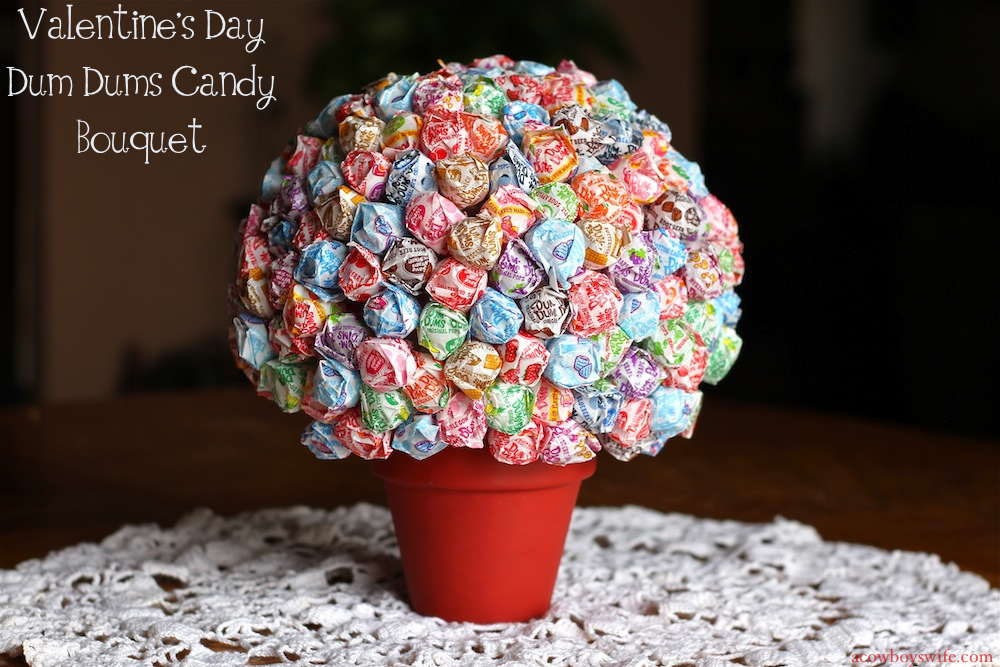 Valentines Day Dum Dums Candy Bouquet