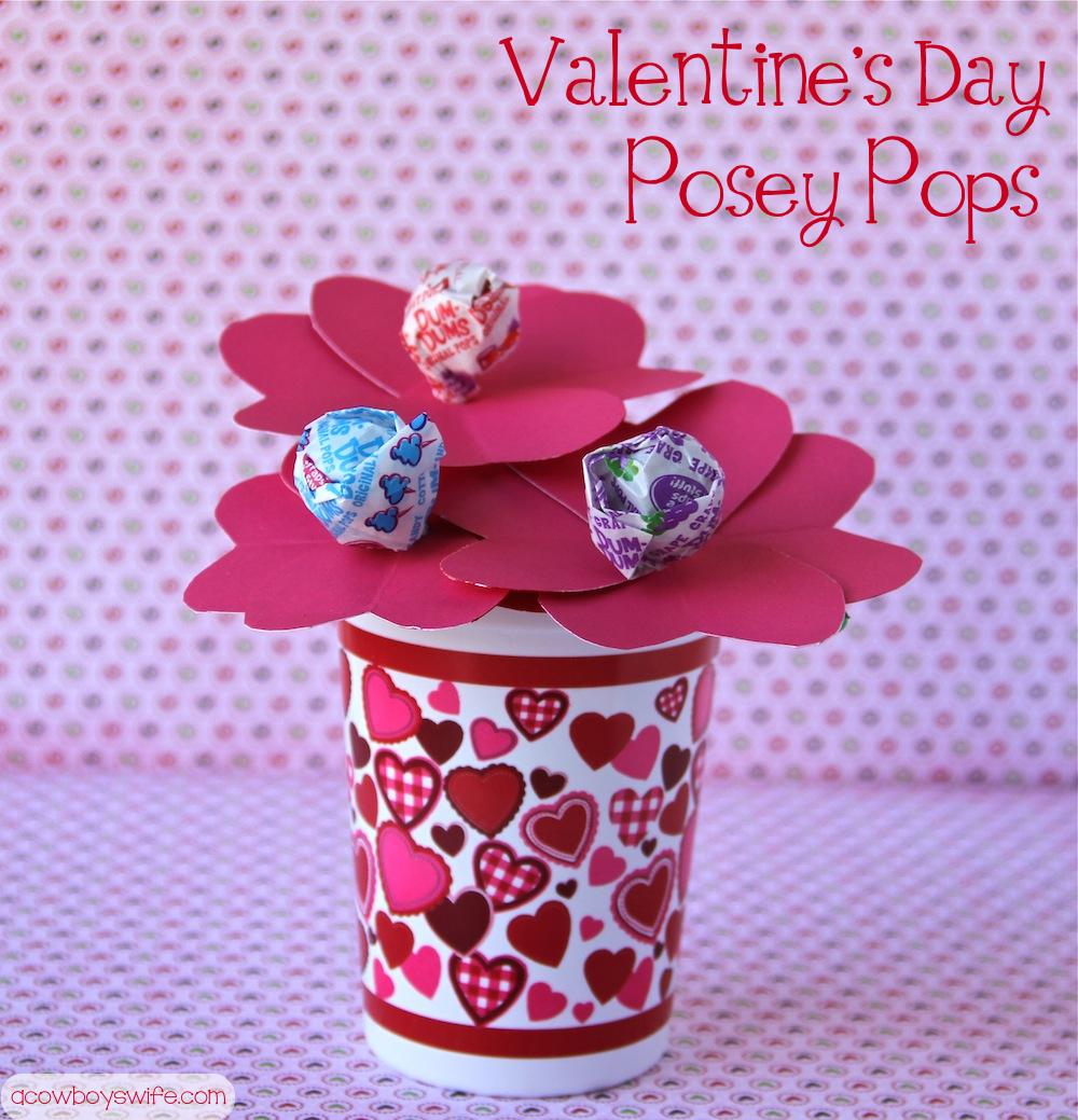 Valentine's Day Posey Pops