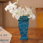 DIY: Vase Makeover Using Rust-Oleum and Rubberbands