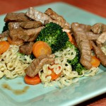 asian beef broccoli with noodles