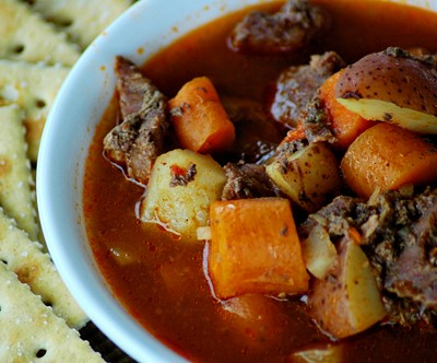 30-Minute Beef Stew in a Pressure Cooker