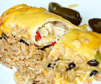 Chicken Fajita Burrito Casserole