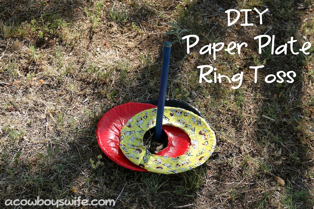 diy paper plate ring toss