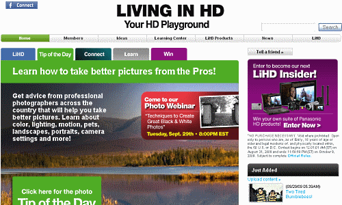 Panasonic's Living in HD Community