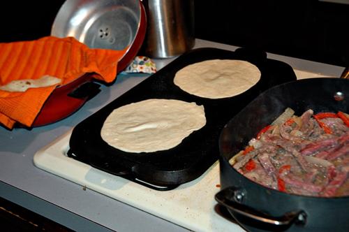 Fajitas with Tortillas