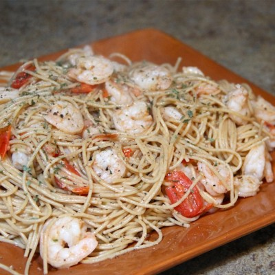 Shrimp and Vegetable Pasta