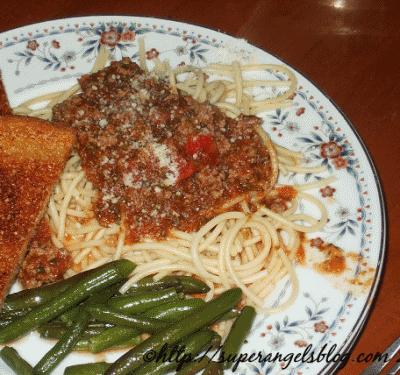 Homemade Organic Ragu Italiano Spaghetti