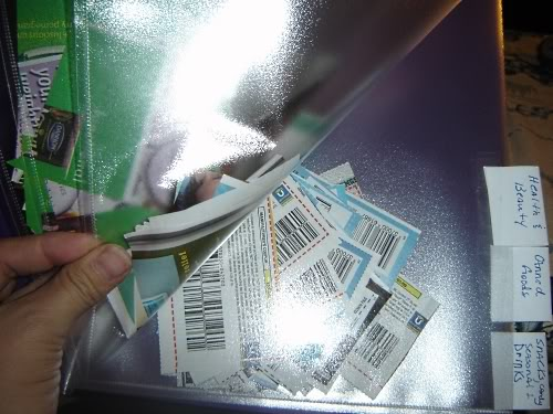 Coupons in the binder