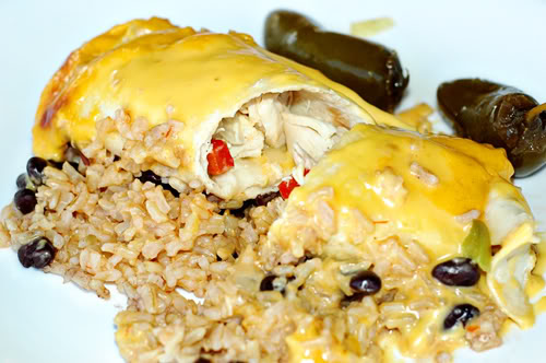 Chicken Fajita Burritos Casserole