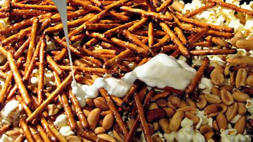 Candy Popcorn Mixture