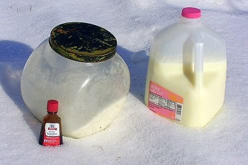 snow ice cream ingredients