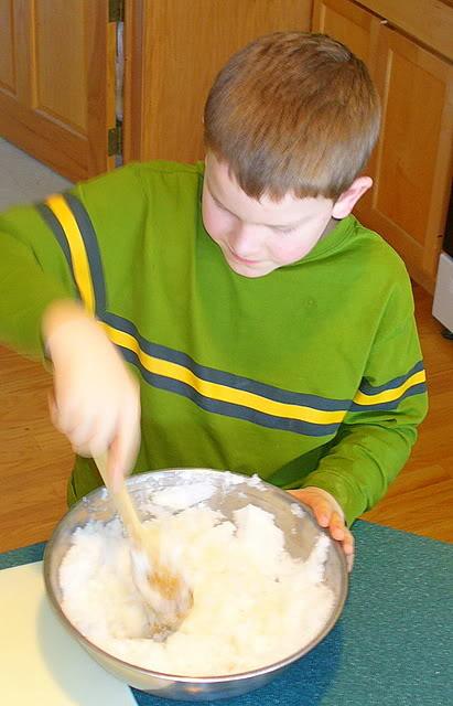 snow ice cream mixing