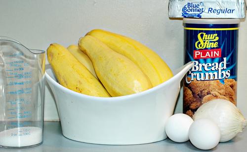 Baked Squash ingredients