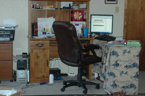Office Depot Desk Makeover, Before and After