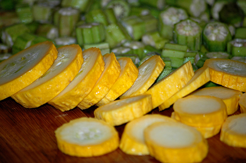 Fresh Squash and Okra