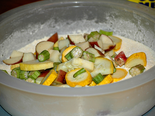 Vegetable Mixture in Cornmeal