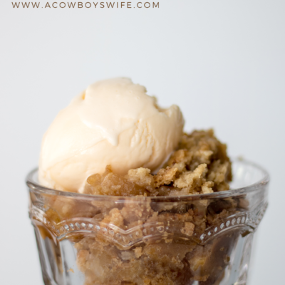 Simple Apple Cobbler Using a Cake Mix