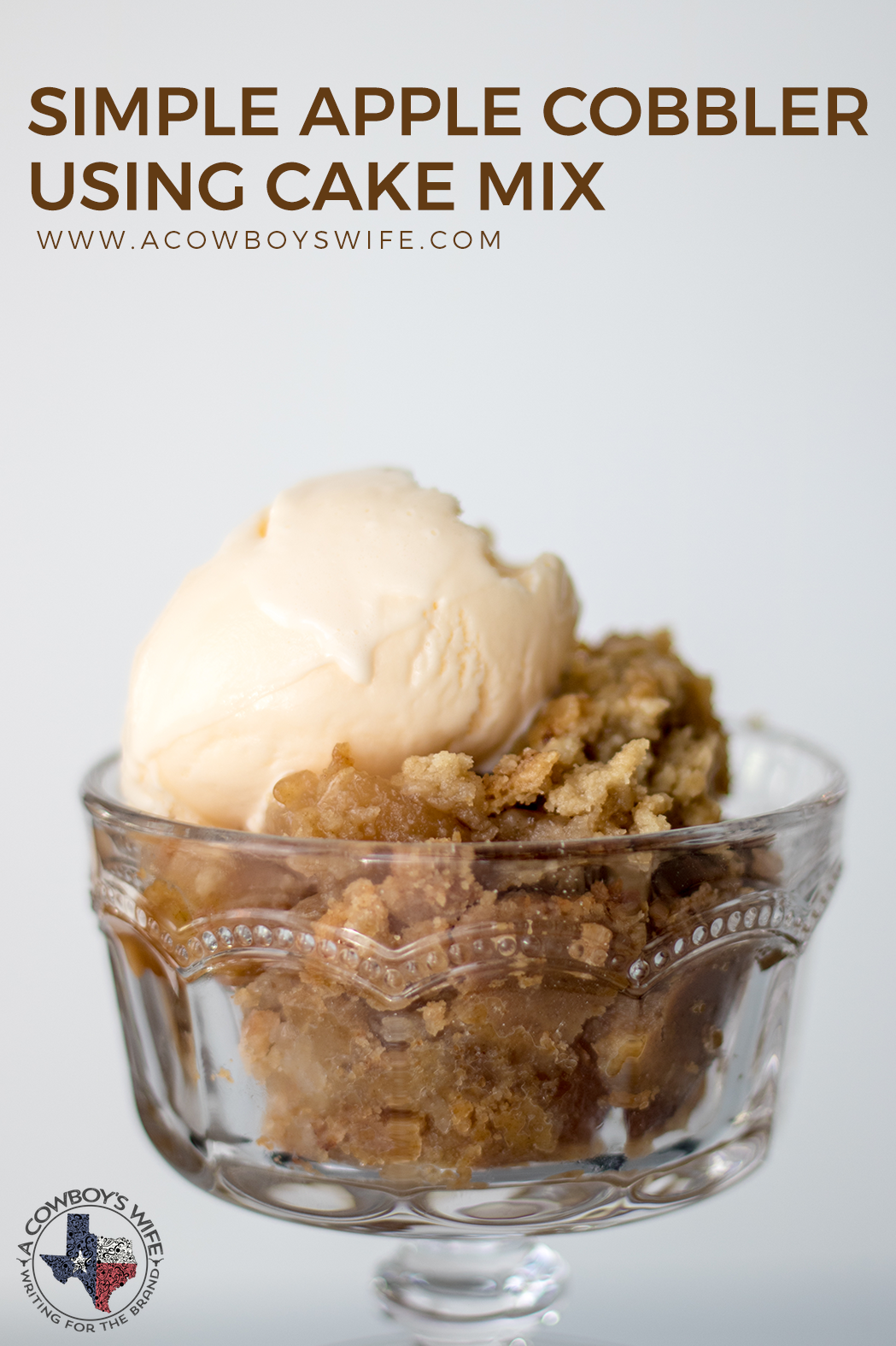 Simple Apple Cobbler Using A Cake Mix A Cowboy S Wife