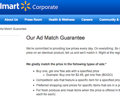 Ad Matching at Walmart with No Ad (quick video)