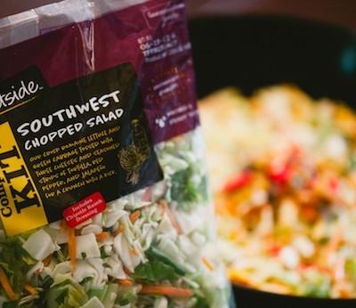 Southwest Chopped Salad, Pretzel Sticks, and Premium Steak