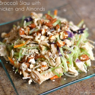 Summer Salad – Broccoli Slaw with Chicken and Almonds #ThinkFisher