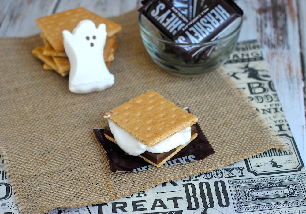 Ghost S'mores for Halloween