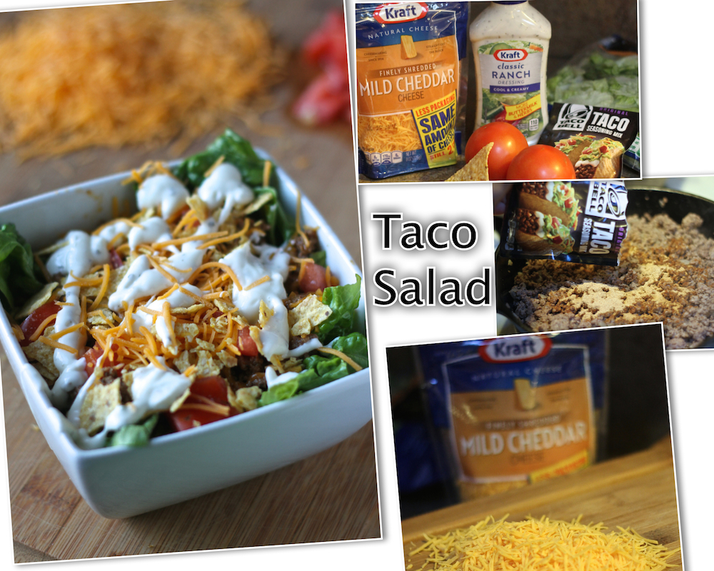 Quick Taco Salad Collage
