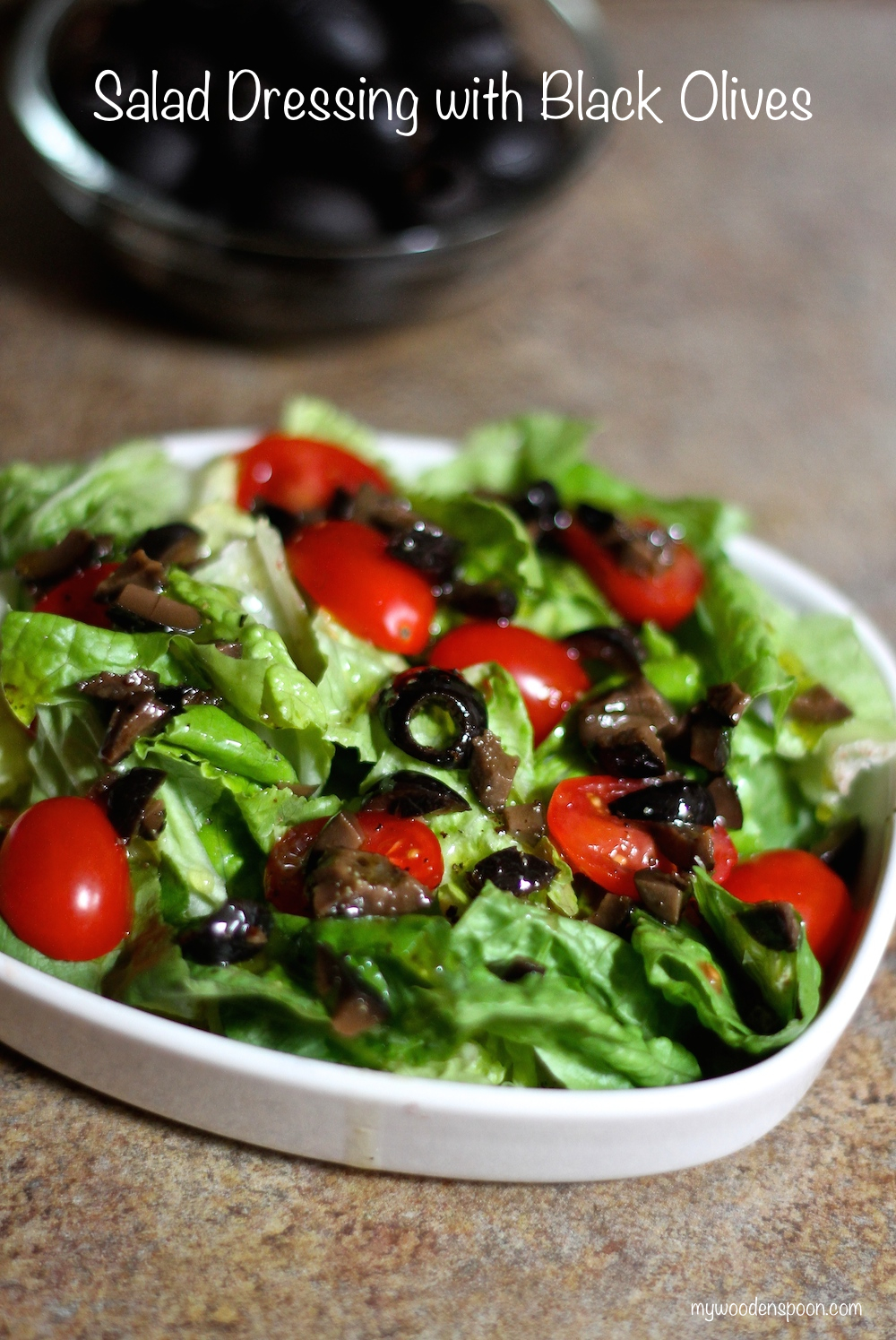 Salad Dressing with Black Olives