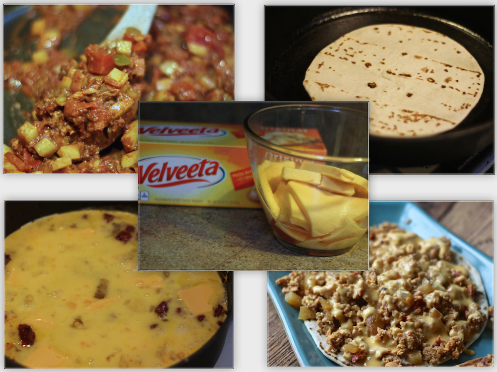 VELVEETA® mexican brunch recipe steps