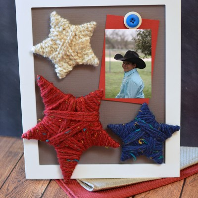 DIY Yarn Star Frame Craft