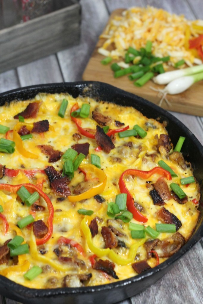 Texas Egg and Potato Skillet Breakfast casserole