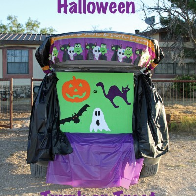 Halloween DIY Throwing Game Board for Trunk or Treat