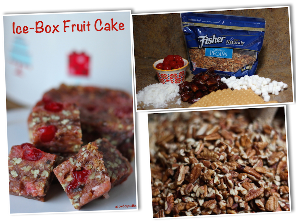 Ice Box Fruit Cake With Graham Crackers And Marshmallows