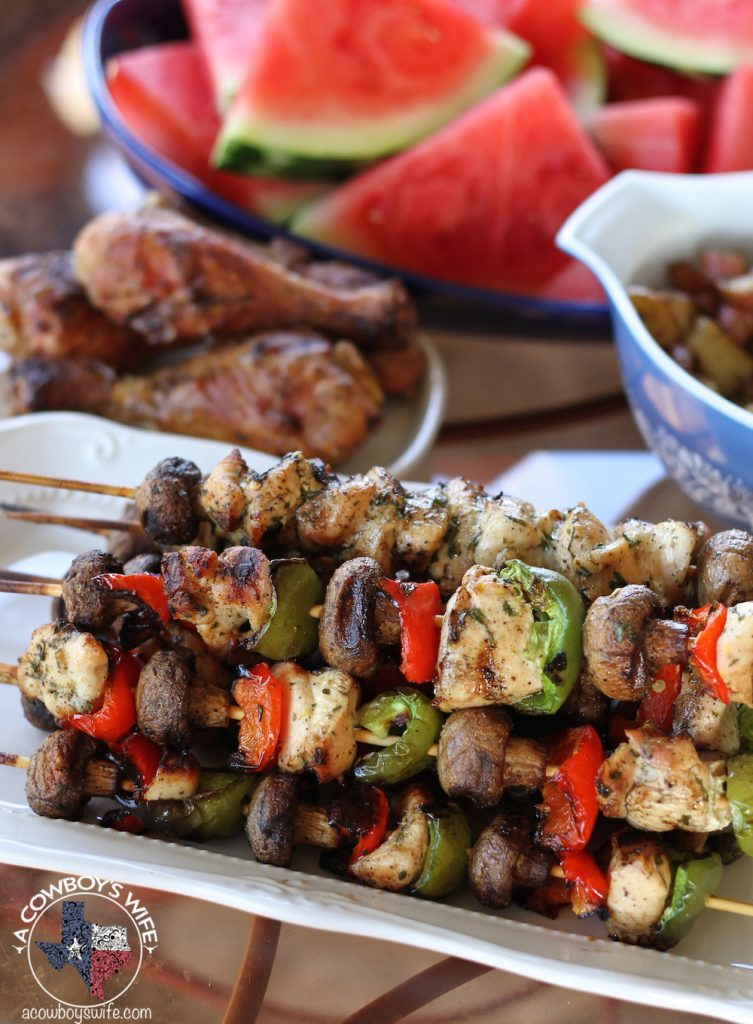 Grilled Lemon Chicken Kabobs